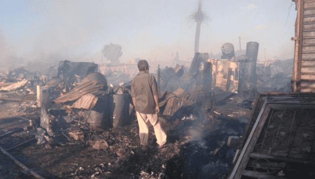 Fire Destroys 300 Homes in Slum Near Rabat