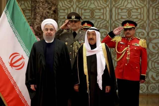 Iranian President Hassan Rouhani and Emir of Kuwait, Sheikh Sabah Al Ahmed Al Sabah