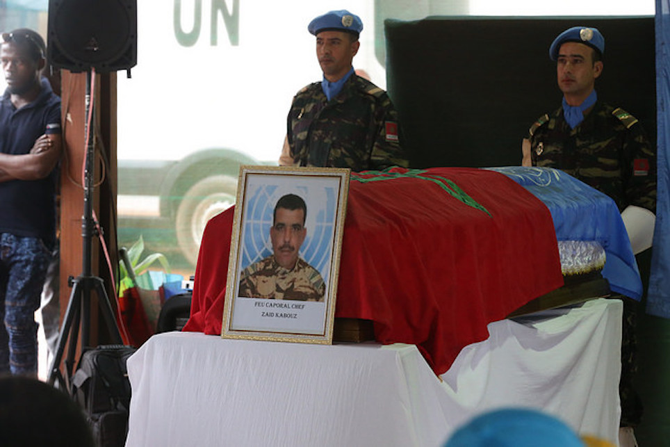 Killed Moroccan Peacekeeper