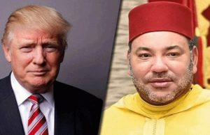 King Mohammed IV and Donald Trump