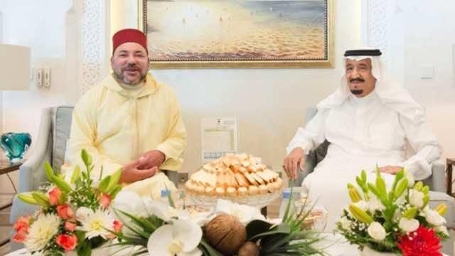 King Mohammed VI with King Salman of Saudi Arabia