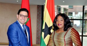 Minister of Foreign Affairs, Nasser Bourita and Ghanian Foreign Minister, Shirely Ayorkor Botchway