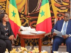 Moroccan Secretary of State for Foreign Affairs, Mounia Boucetta and Senegal's president, Macky Sall