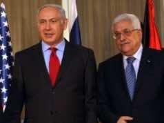 Prime Minister Benjamin Netanyahu and Palestinian Authority President Mahmoud Abbas