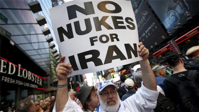 Several thousand protesters demonstrated to oppose the nuclear deal with Iran in New York City in July [Mike