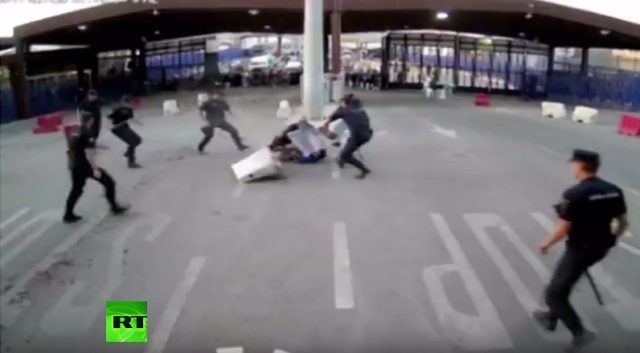 Spanish Police Take Down Knife-Wielding Moroccan at Melilla Border