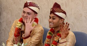 The couple Jahed Choudhury and Sean Rogan