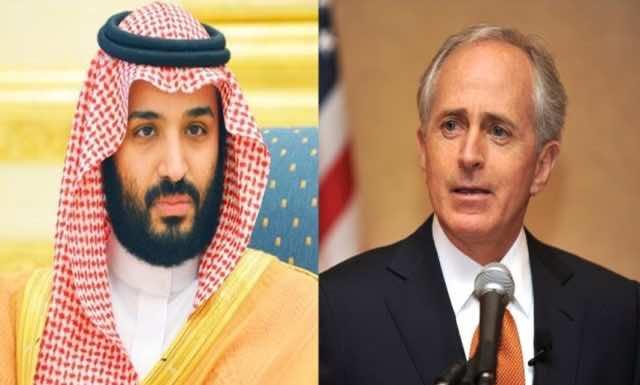 US Senator, Bob Corker and Saudi Arabia's crown prince, Mohammed bin Salman