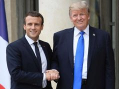 United States President Donald Trump and French President Emmanuel Macron