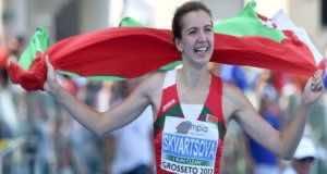 Violetta Skvosrtsova , Belarusian Athlete Walks Off Medal Ceremony After Wrong Anthem Played
