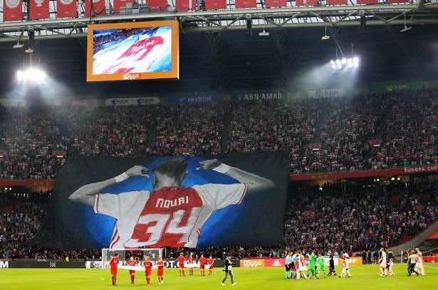 Ajax pays emotional tribute to Abdelhak Nouri at Amsterdam Arena