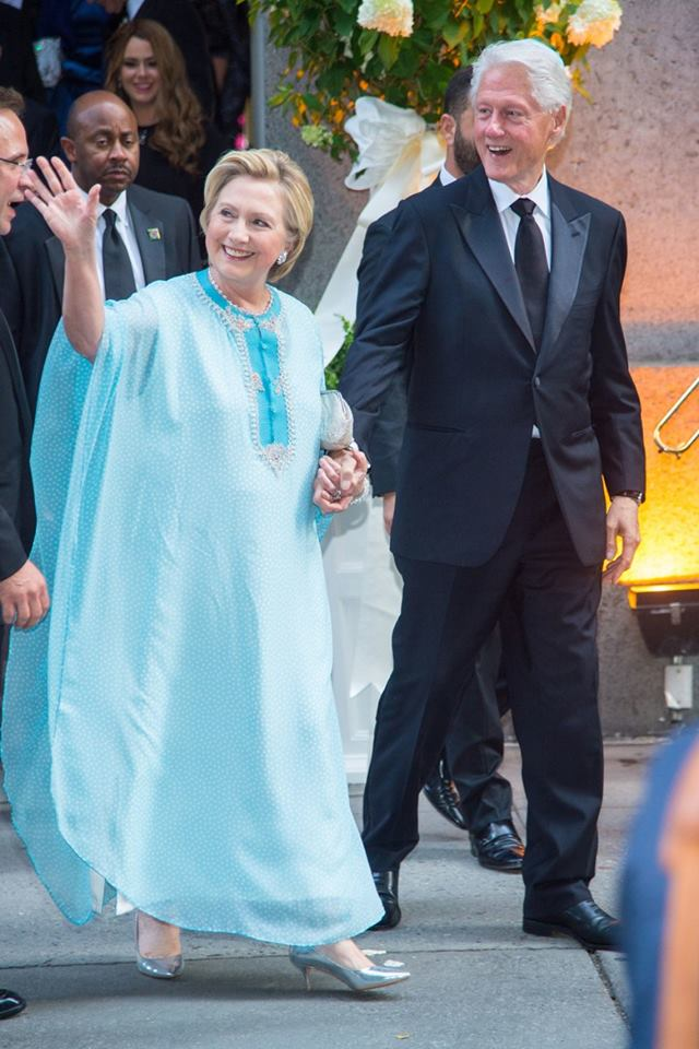 Hillary Clinton Steals Spotlight in Wedding with Her Moroccan Caftan
