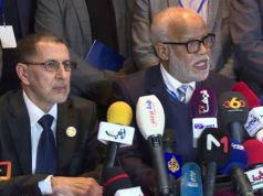 Minister of Employment, Mohammed Yatim and head of government, Saad Eddine El Othmani
