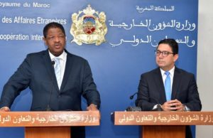Minister of Foreign Affairs, Nasser Bourita and chairman of ECOWAS commission, Marcel Alain De Souza