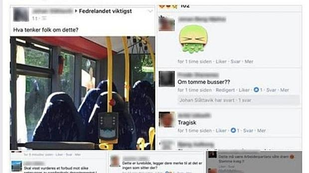 Norwegian Far-Right Group Mistakes Empty Seats Busy For Women Wearing Burqa