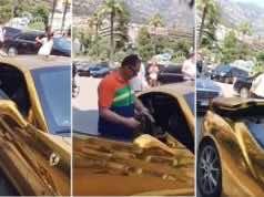 Saudi Prince Makes Waves Driving Solid Gold Car