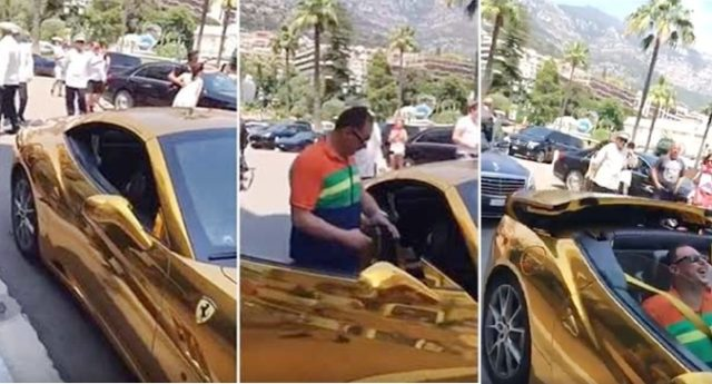 Saudi Prince Makes Waves Driving Solid Gold Car
