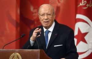 Tunisian President Beji Caed Essibssi