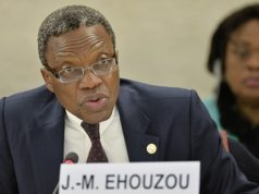 the organization's ambassador to Geneva, Jean-Marie Ehouzou