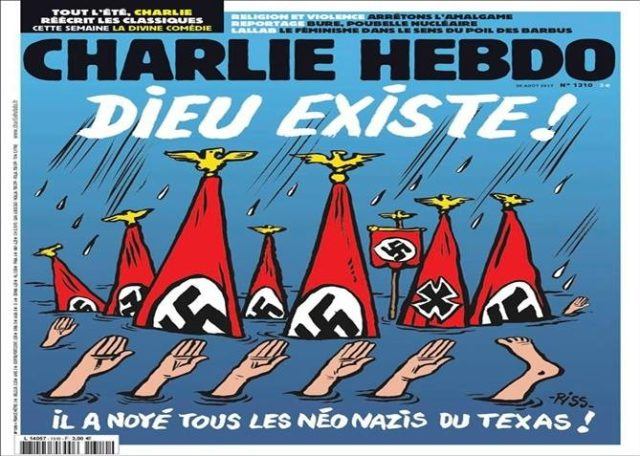 French Weekly Charlie Hebdo Laughs at Deadly American Hurricane