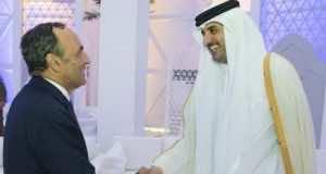 Habib El Malki, head of the House of Representative and qatari emir Sheikh Tamim bin Hamad Al Thani