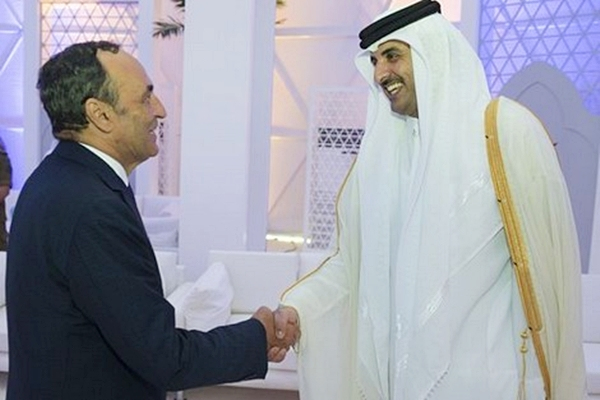 Habib El Malki, head of the House of Representative and qatari emir Sheikh Tamim bin Hamad Al Thani