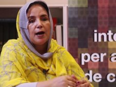 Khadijetou El Mokhtar, the president of the foreign relations commission at SADR's Union of Sahrawi Women