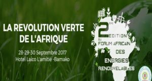 Mali to Hold 2nd African Renewable Energy Forum Sept. 28-30