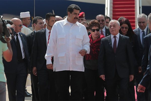 Venezuelan President Lands in Algiers for Unexpected Visit