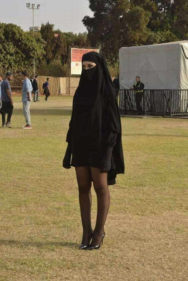 Woman Wearing Burqa Skirt Shocks Casablanca Festival, L'boulvard, Buka, Mini Burqa
