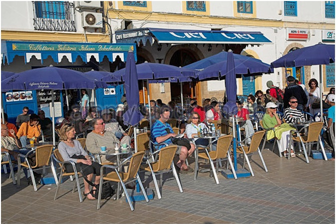 A Moroccan outdoor café, to while away time and watch the world go by