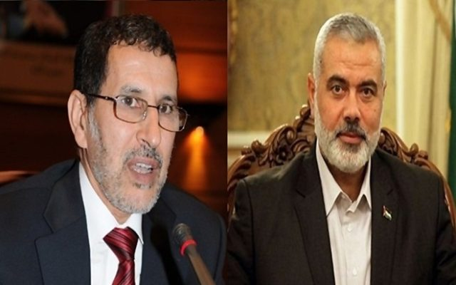 El Othmani and Hamas Leader Ismail Haniyeh Discuss Intra-Palestinian Reconciliation