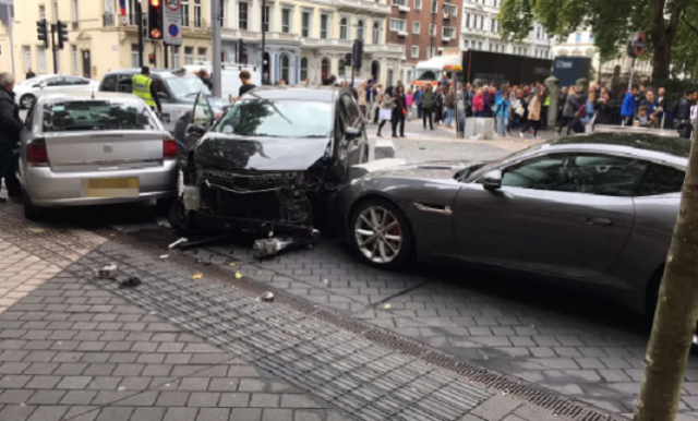 Car Hits Pedestrians Near Natural History Museum in London