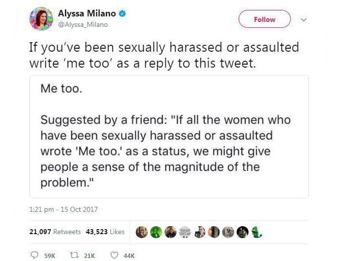 #MeToo Campaign Sweeps Social Media, Calling to Stand Against Sexual Harassment and Assault