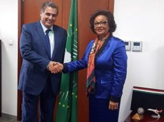 Minister of Agriculture, Aziz Akhannouch and African Union Commissioner Josefa Leonel Correia Sacko
