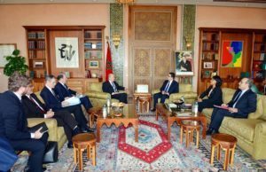 Moroccan Minister of Foreign Affairs Nasser Bourita with his French counter part Jean-Yves Le Drian
