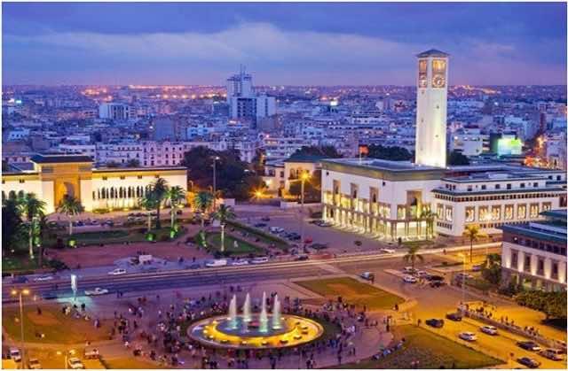 Place Mohammed V in central Casablanca
