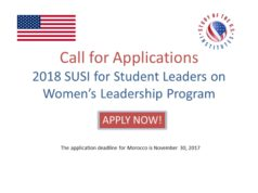 'Student Leadership' Program to Send Morocco's Future Female Leaders to US