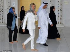 Brigitte Macron at Sheikh Zayed Grand Mosque