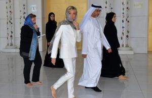 Brigitte Macron at Sheikh Zayed Grand Mosque