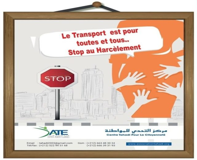 Campaign to End Violence and Sexual Harassment on Public Transport Launches in Casablanca