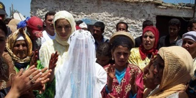 an underage bride wearing white