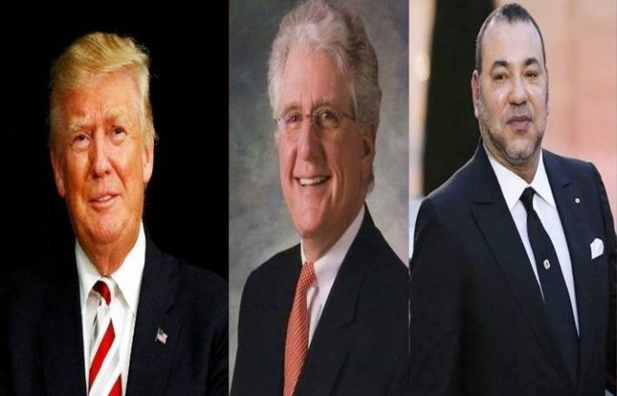 Donald trump, King Mohammed IV and David Fischer