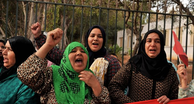 Families of Moroccans Stranded in Libya Protest in Rabat