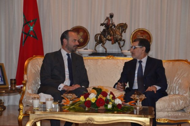 French Prime Minister Édouard Philippe and Saad Eddine El Othmani, Moroccan Head of Government