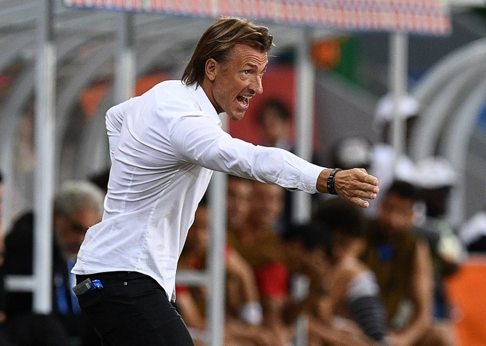 Herve Renard the coach of Morocco's national football team