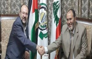 Justice and Charity Member Mohammed Hamdaoui Meets With Leading Hamas Member Ali Baraka in Lebanon