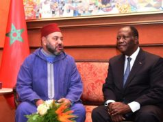 King Mohammed VI and the president the Republic of Côte d'Ivoire, Alassane Ouattara