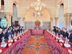 King Mohammed VI during a government meeting of Saad Eddine El Othmani's coalition. Political Earthquake