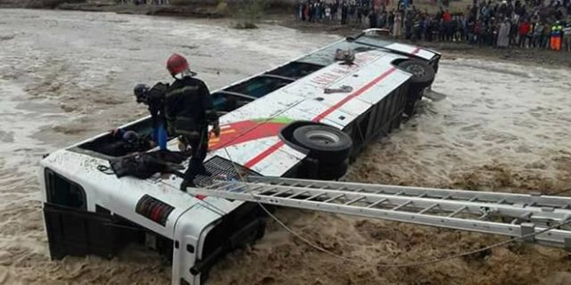 Marrakech Bus Crash in Heavy Rain Leaves 56 Injured and 1 Newborn Missing